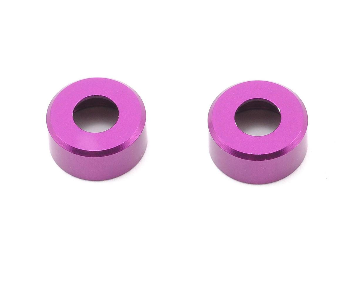 HB Racing Aluminum Lower Shock Cap (Purple) (2)