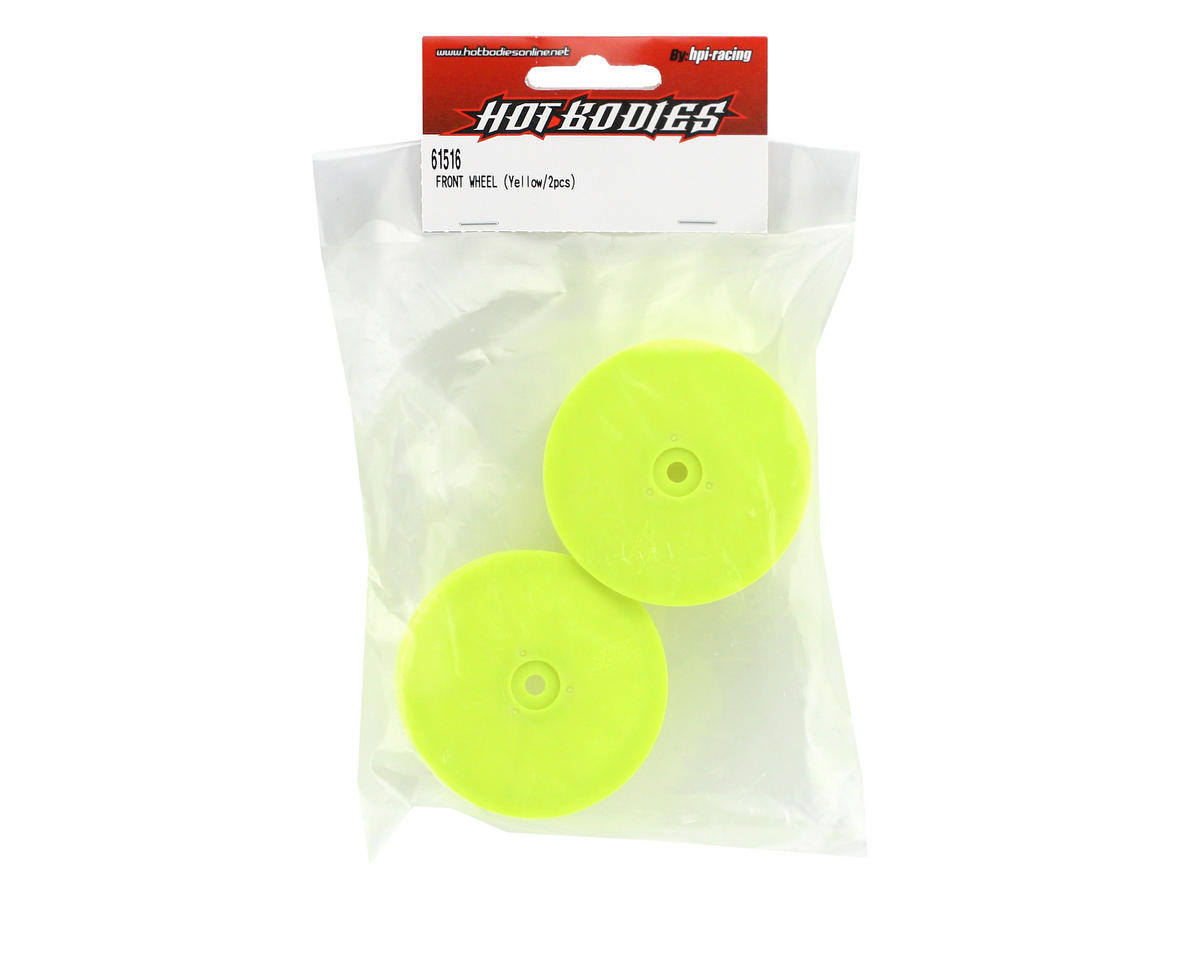 HB Racing Yellow Front Wheel (Cyclone D4) (2)