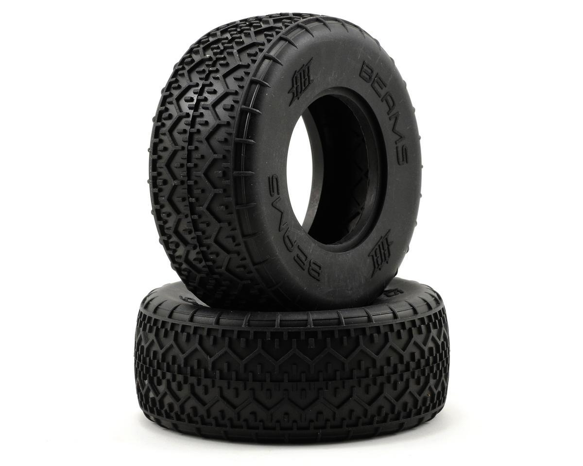 HB Racing Beams Short Course Tire (2) (No Foam) (Pink)