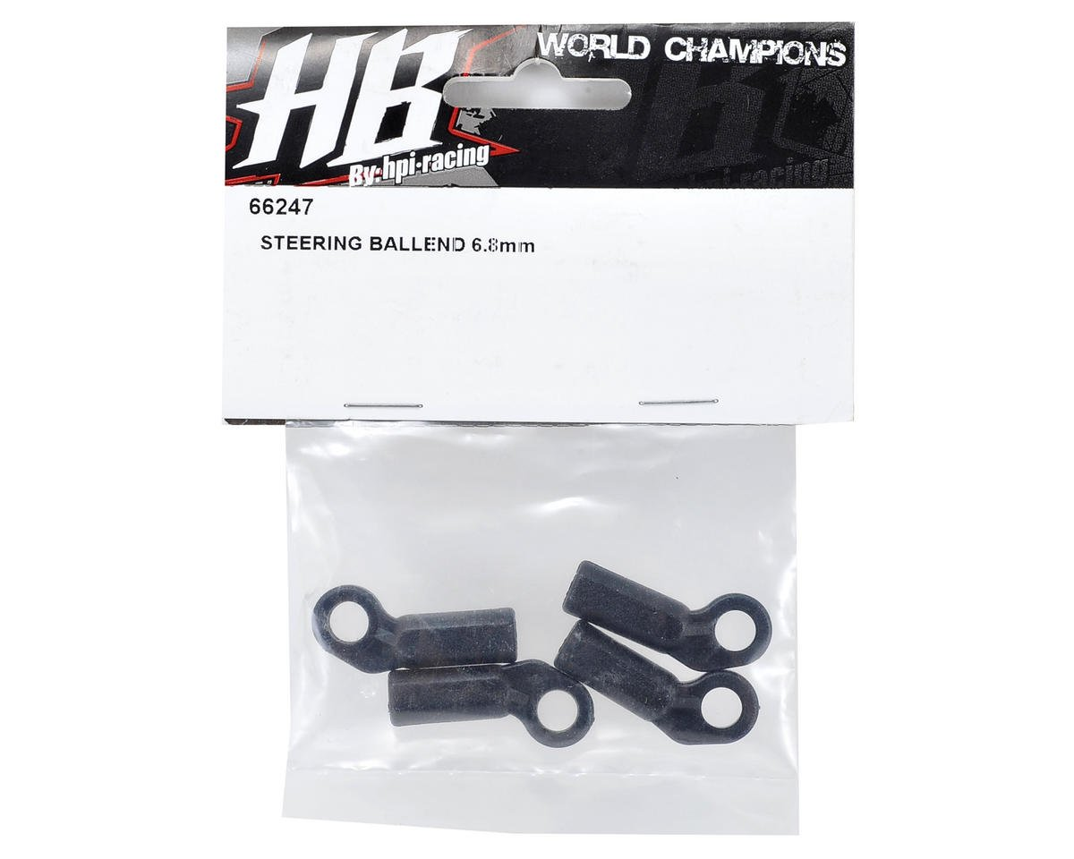 HB Racing 6.8mm Steering Ball End (4)