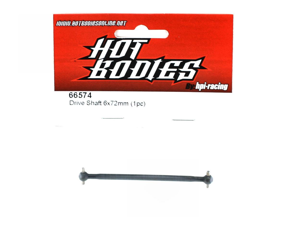 HB Racing Driveshaft 6x72mm