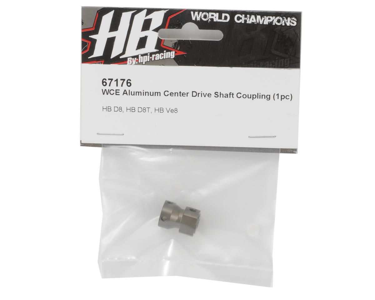 HB Racing WCE Aluminum Center Driveshaft Coupling (1)