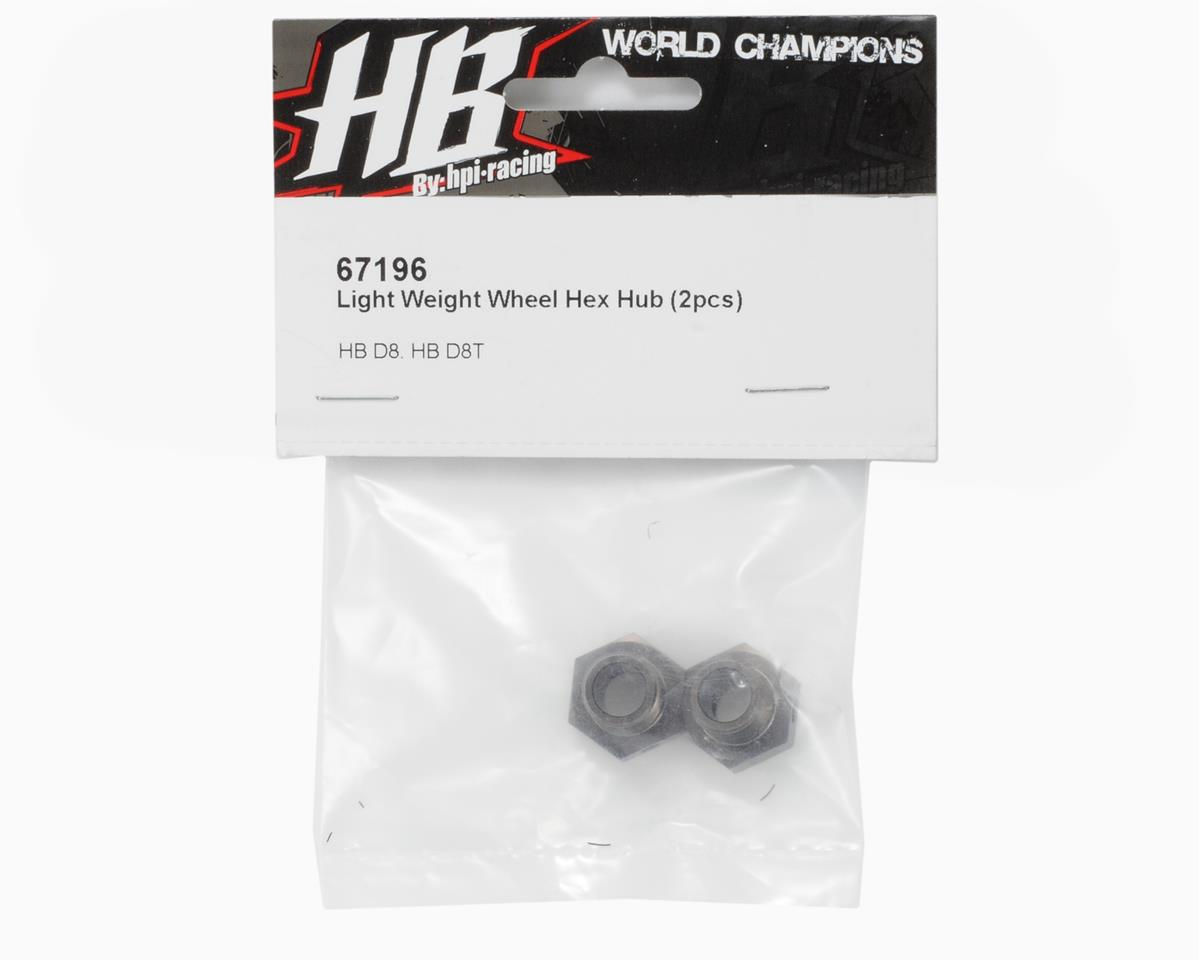 HB Racing Light Weight Wheel Hex Hub (2)