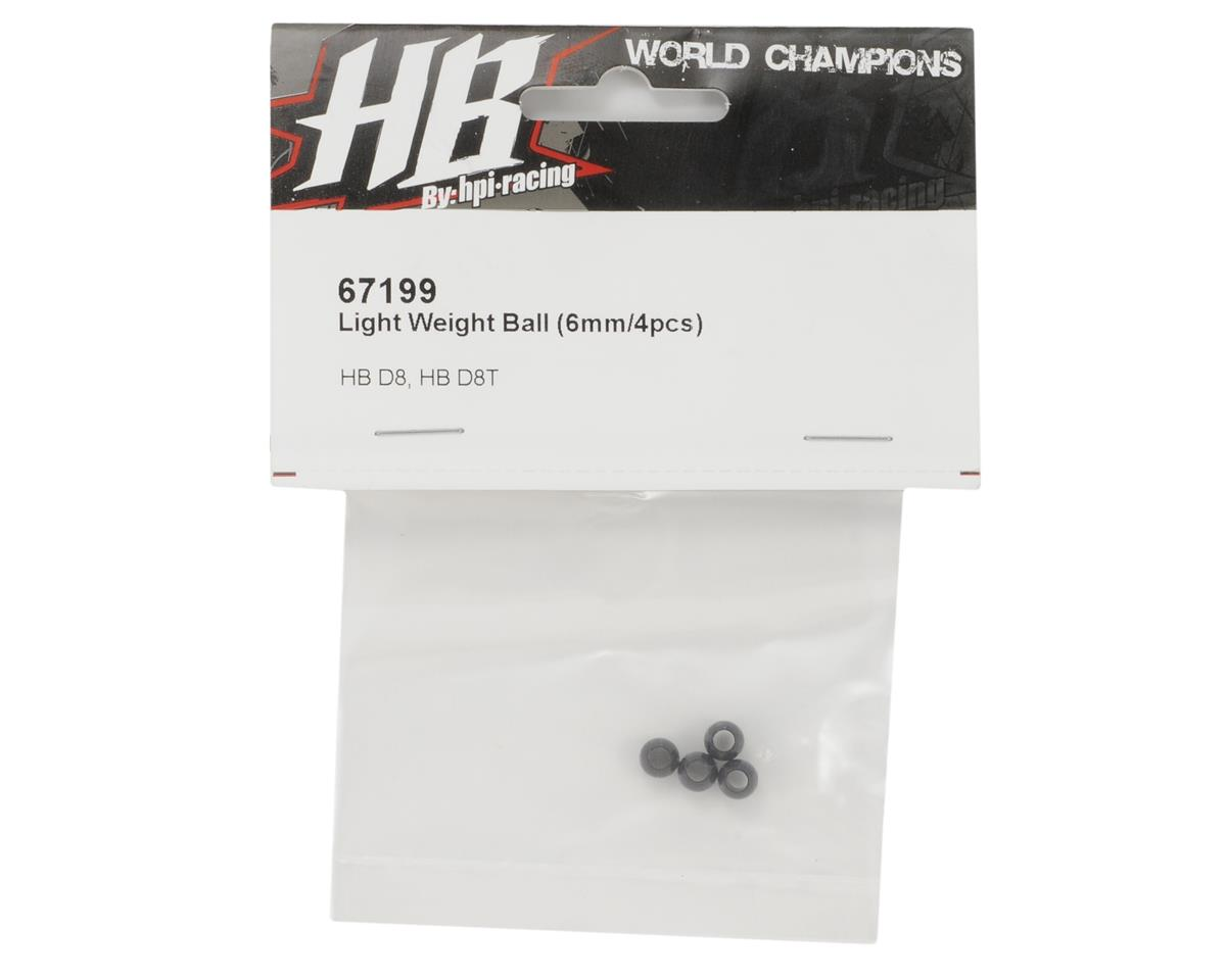HB Racing 6mm Light Weight Aluminum Ball (4)