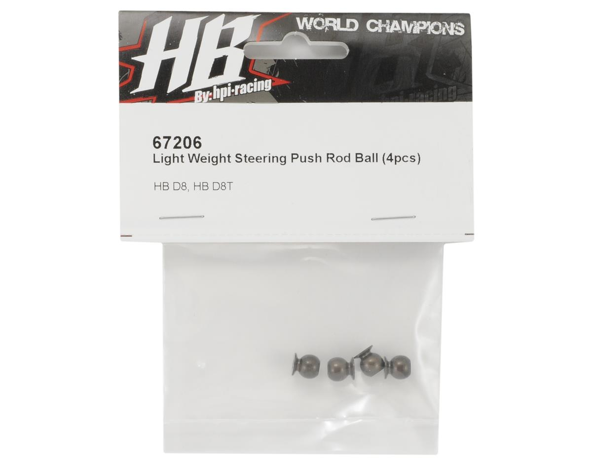 Light Weight Aluminum Steering Push Rod Ball (4) by HB Racing