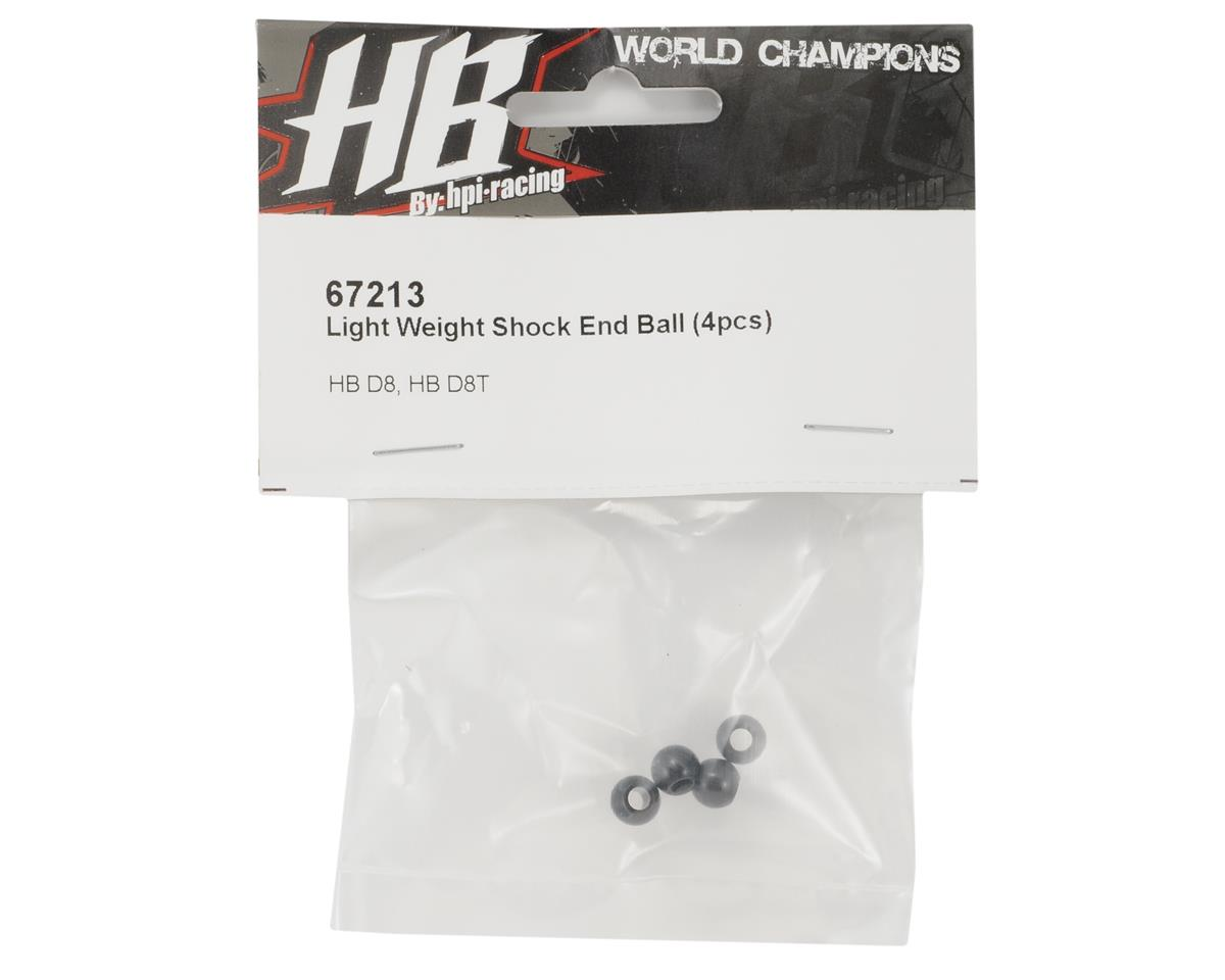 HB Racing Light Weight Aluminum Shock End Ball (4)
