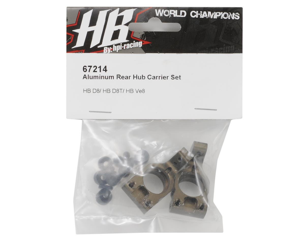 HB Racing Aluminum Rear Hub Carrier Set