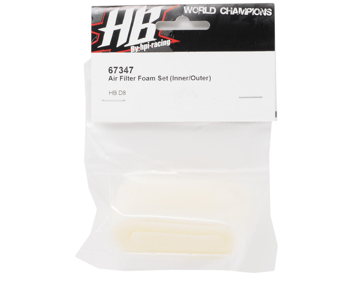HB Racing D8 Air Filter Foam Set (Inner/Outer)