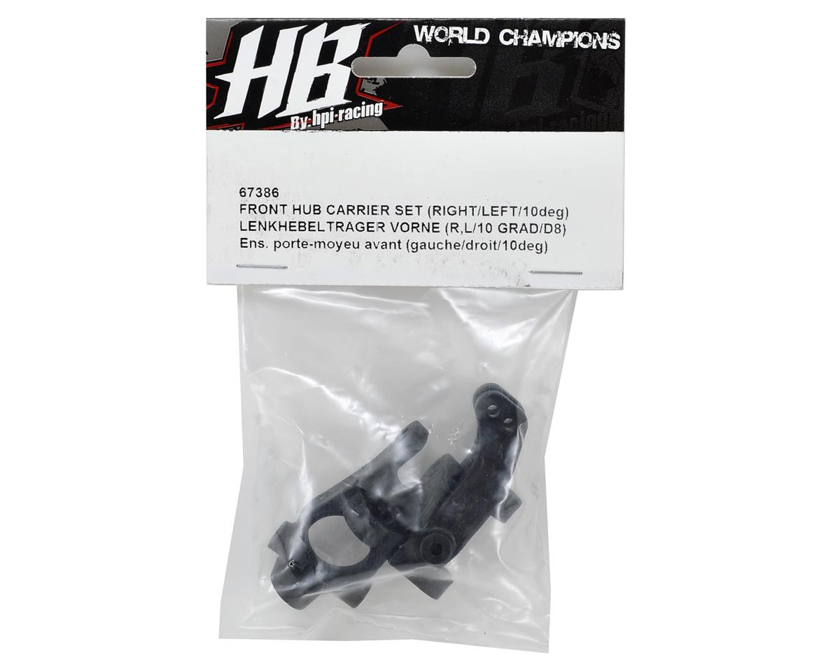 Front Hub Carrier Set (10°) by HB Racing
