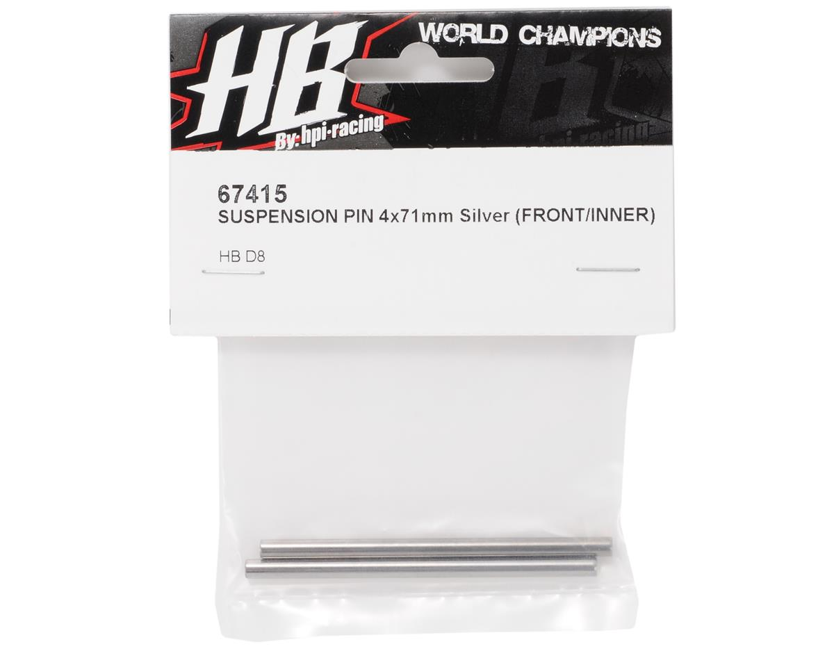 HB Racing 4x71mm Front Inner Hinge Pin (2)