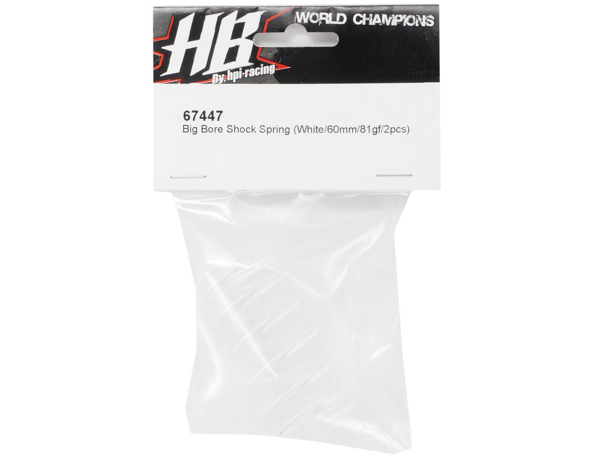 HB Racing 60mm Big Bore Shock Spring (White - 81Gf) (2)