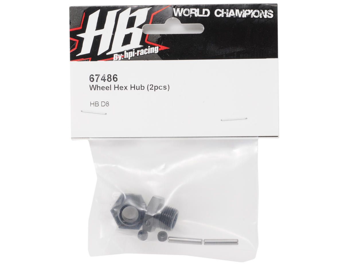 Wheel Hex Hub (2) by HB Racing