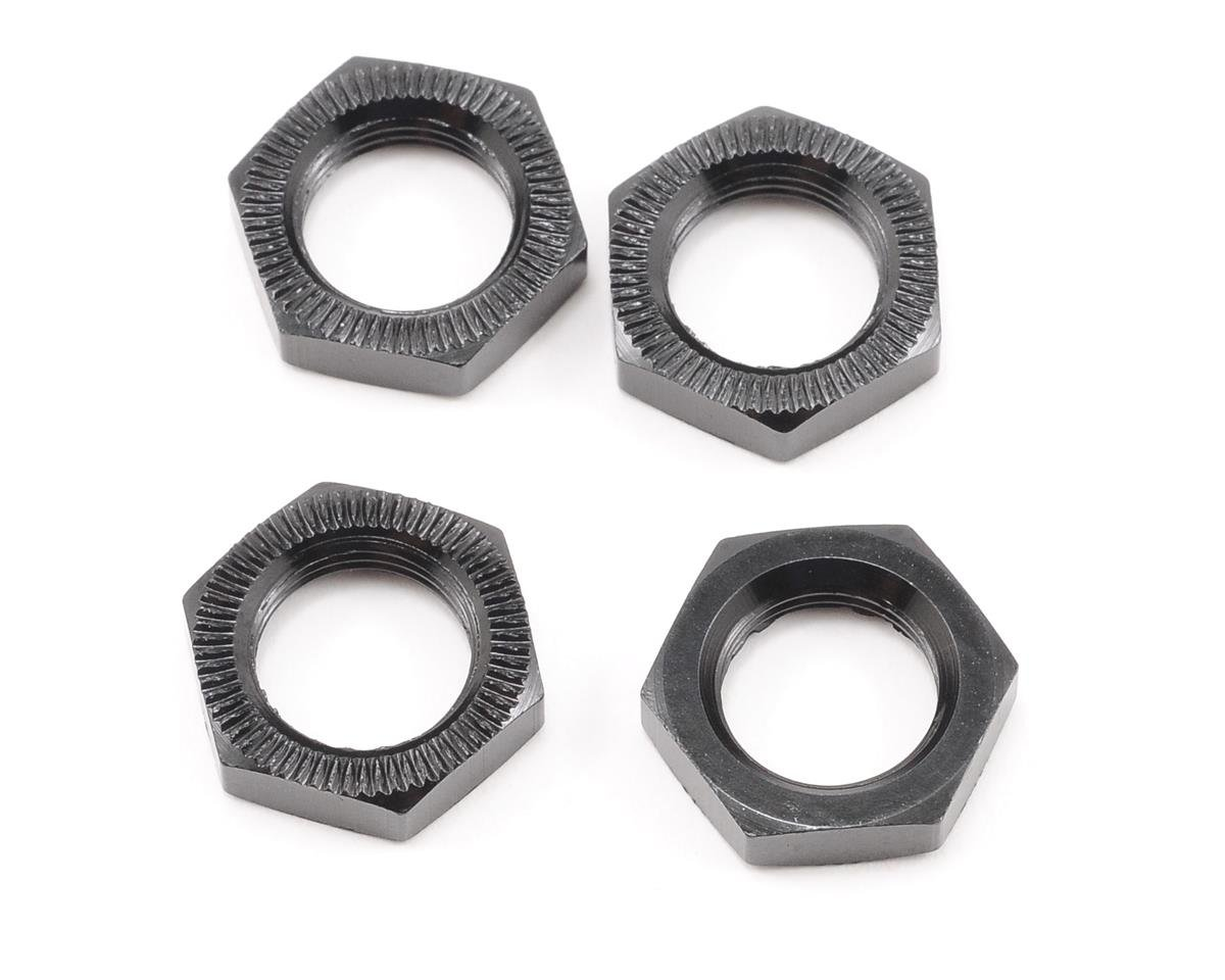 HB Racing E817T 17mm Wheel Nut (Black) (4)