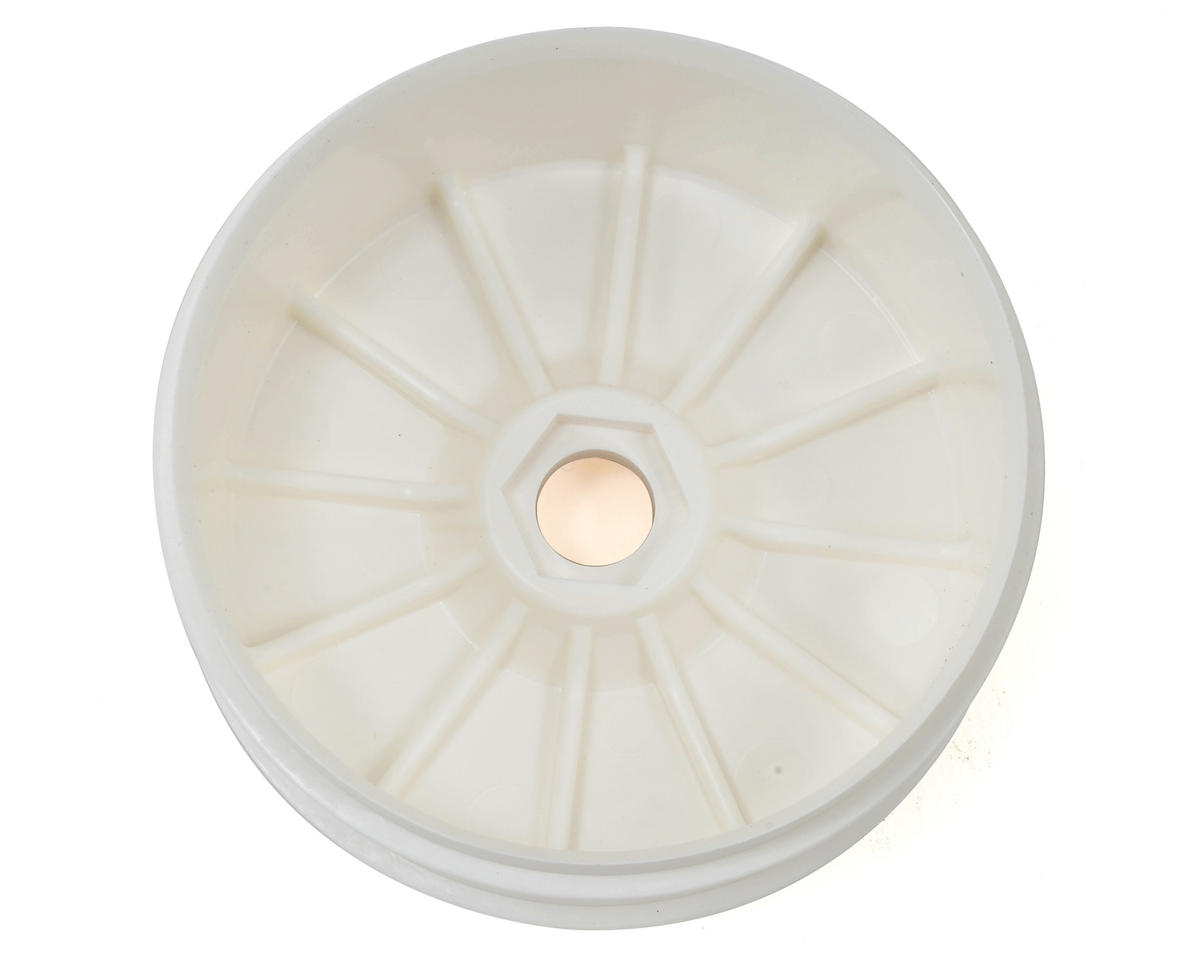 HB Racing HB Dish Buggy Wheel (White) (4)