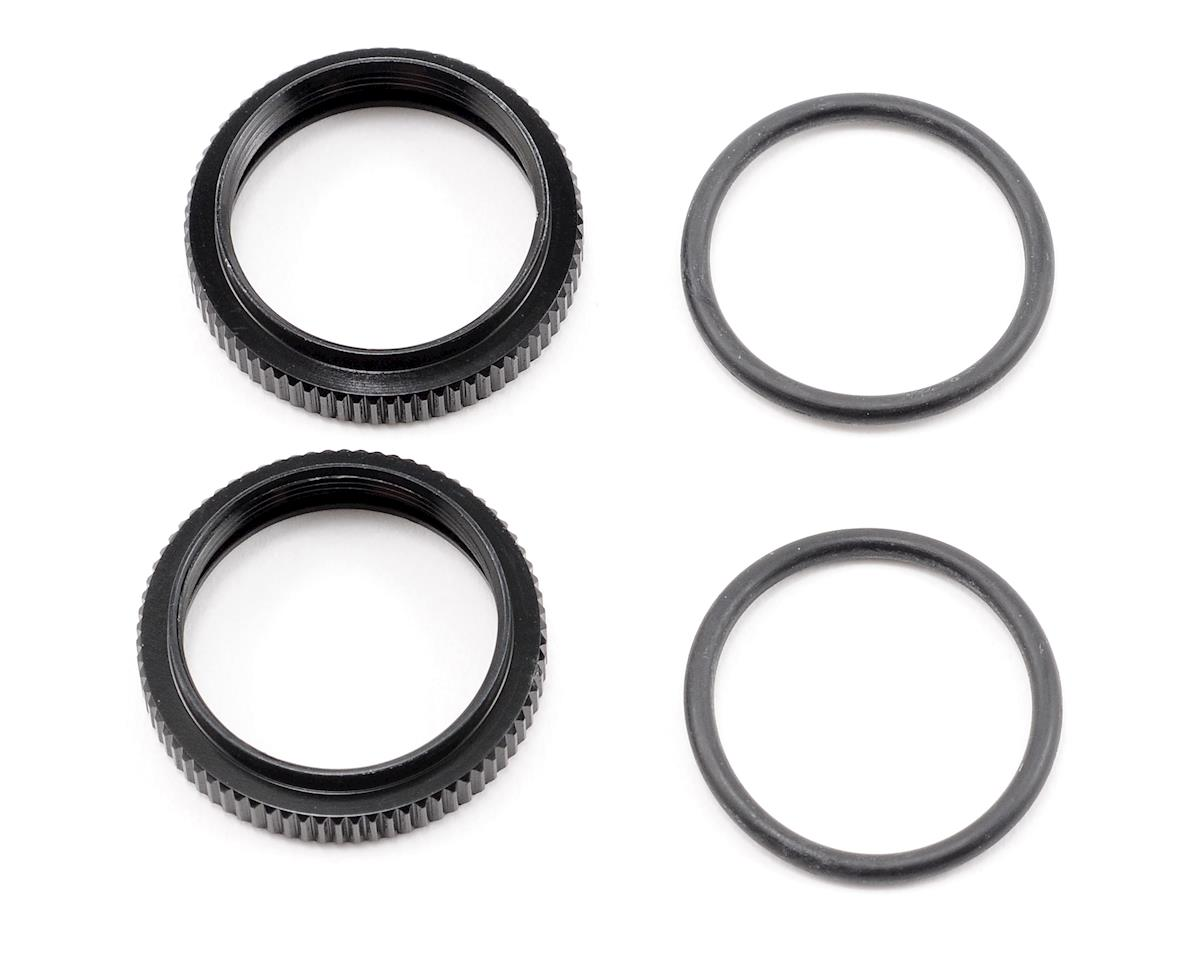 HB Racing Big Bore Pre-Load Adjustment Nut (Black) (2)