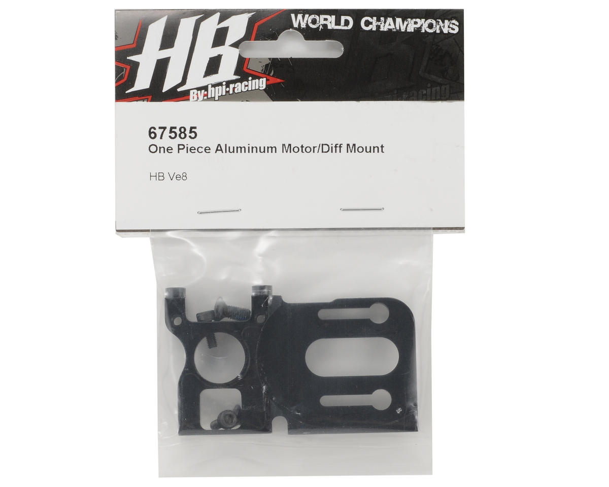 HB Racing One Piece Aluminum Motor/Differential Mount