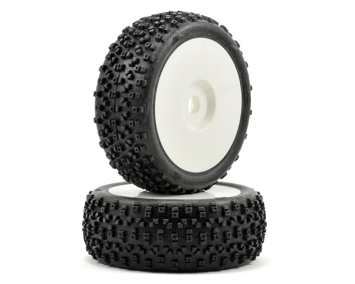 HB Racing Proto Pre-Mounted 1/8 Buggy Tire (Red) (2)