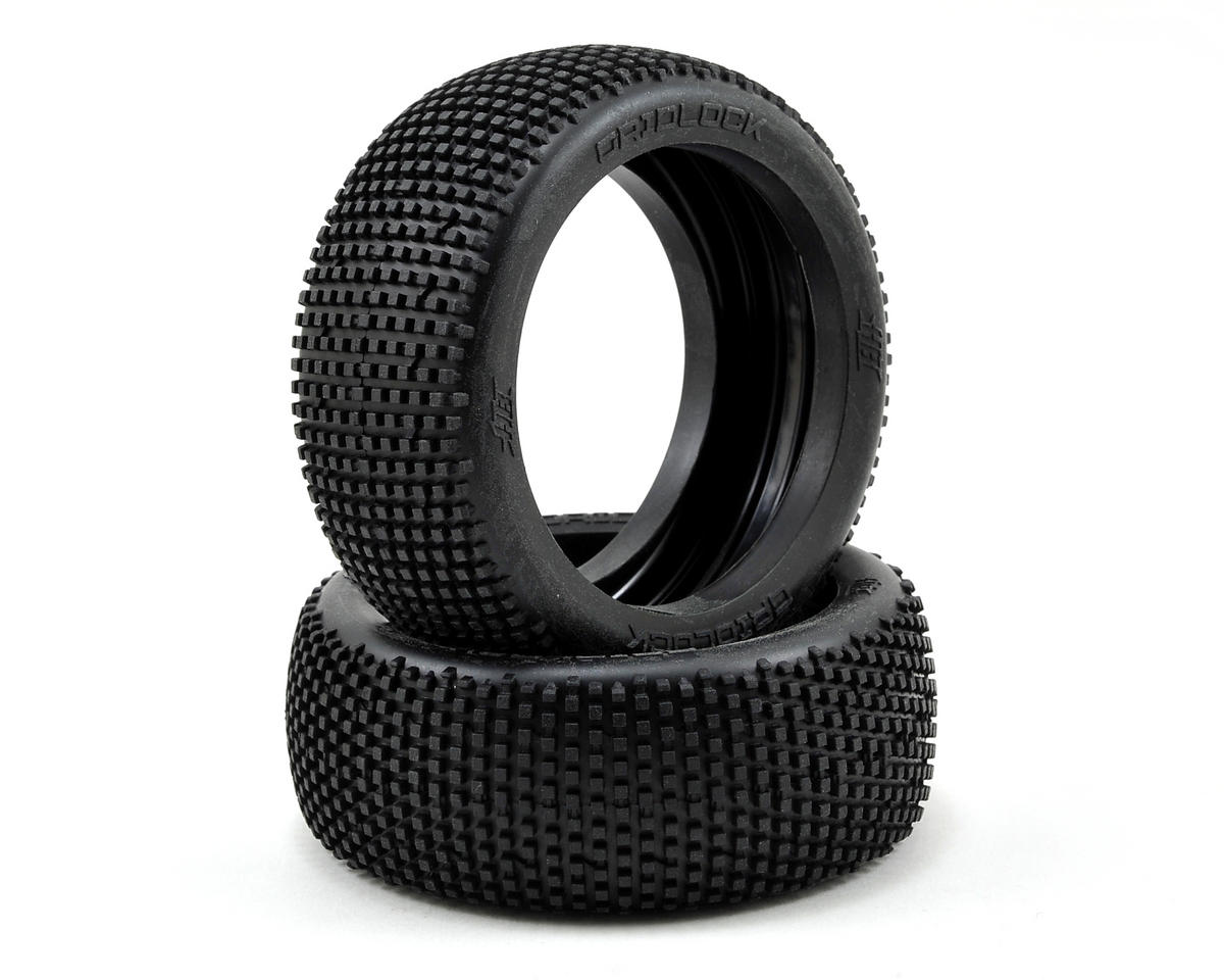 Gridlock 1/8 Buggy Tire (2) (Red) by HB Racing