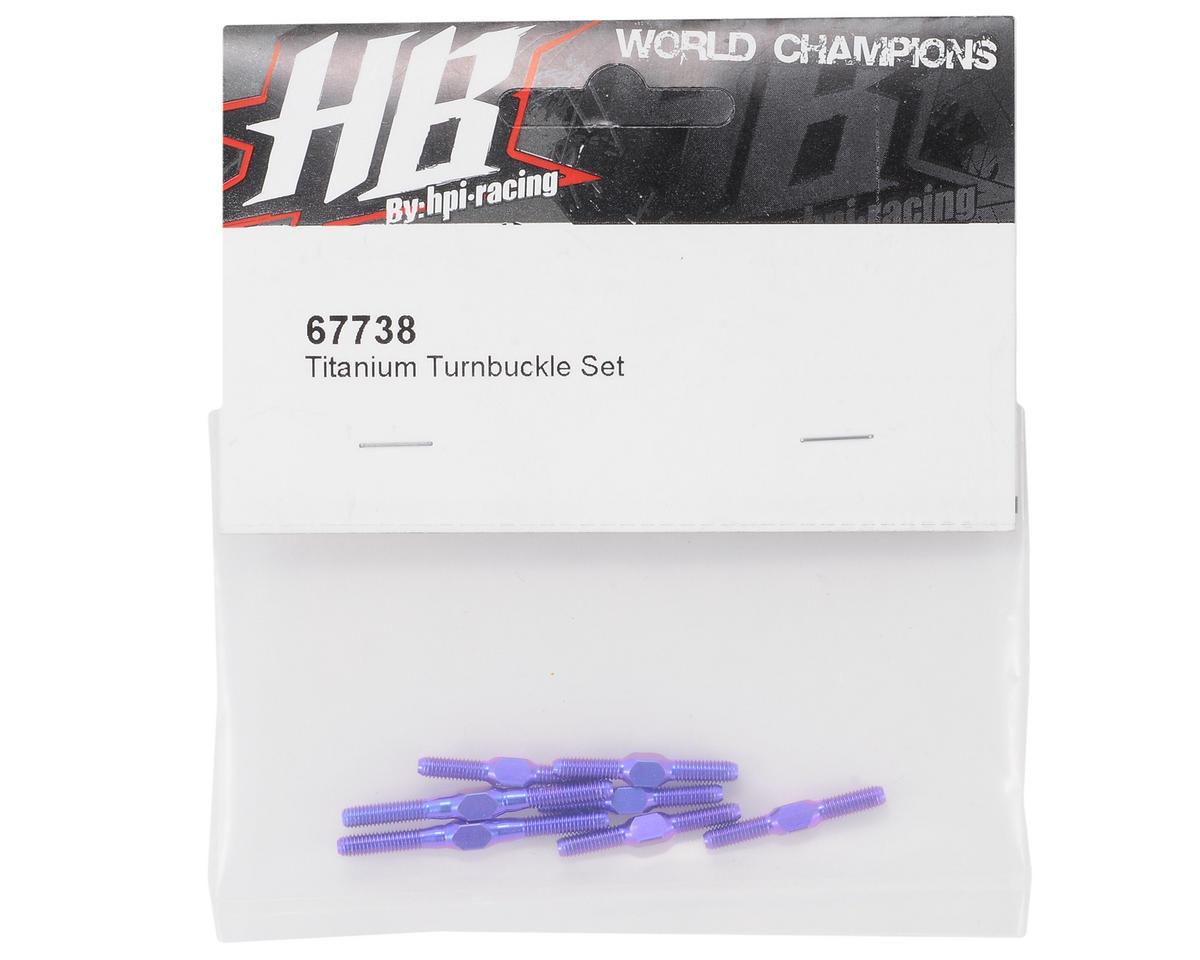 HB Racing Titanium Turnbuckle Set
