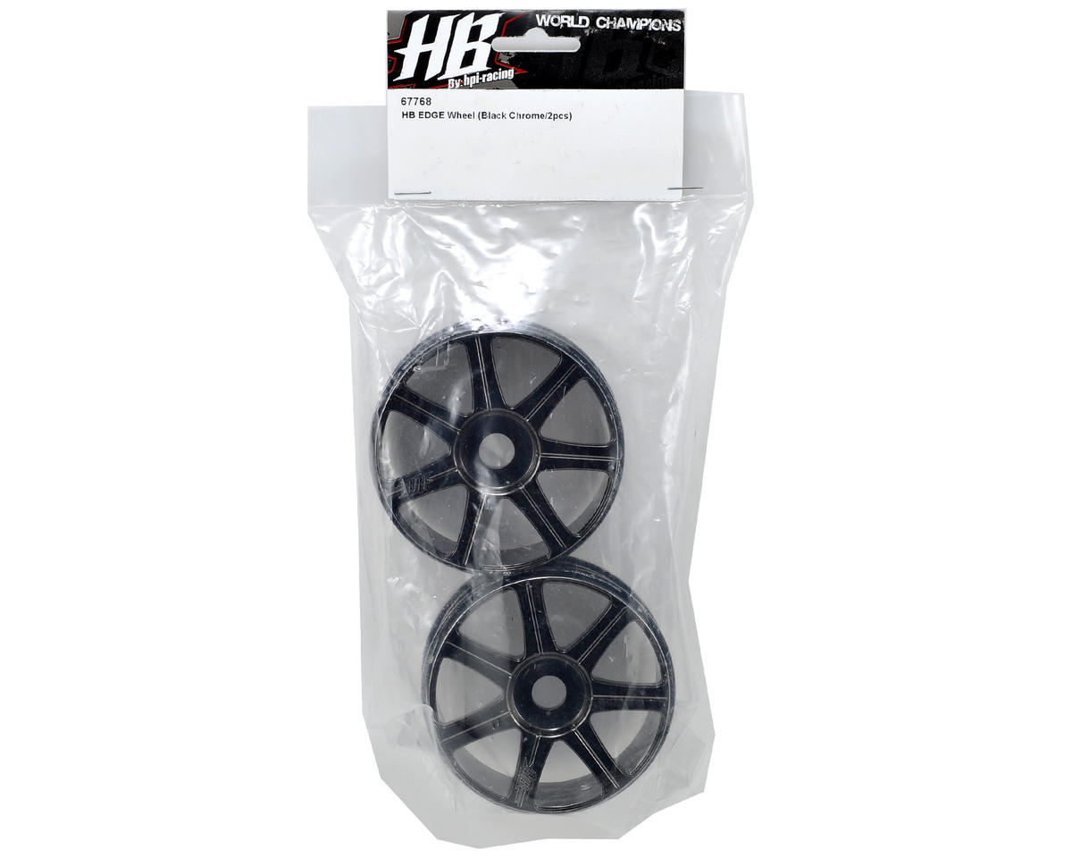 HB Racing HB Edge Wheels (2) (Black Chrome)