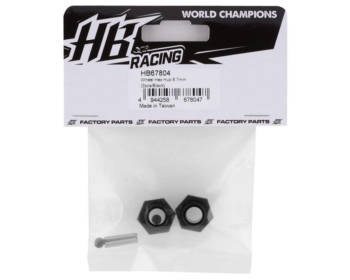 HB Racing 6.7mm Offset 17mm Hex Wheel Hub (Black) (2)