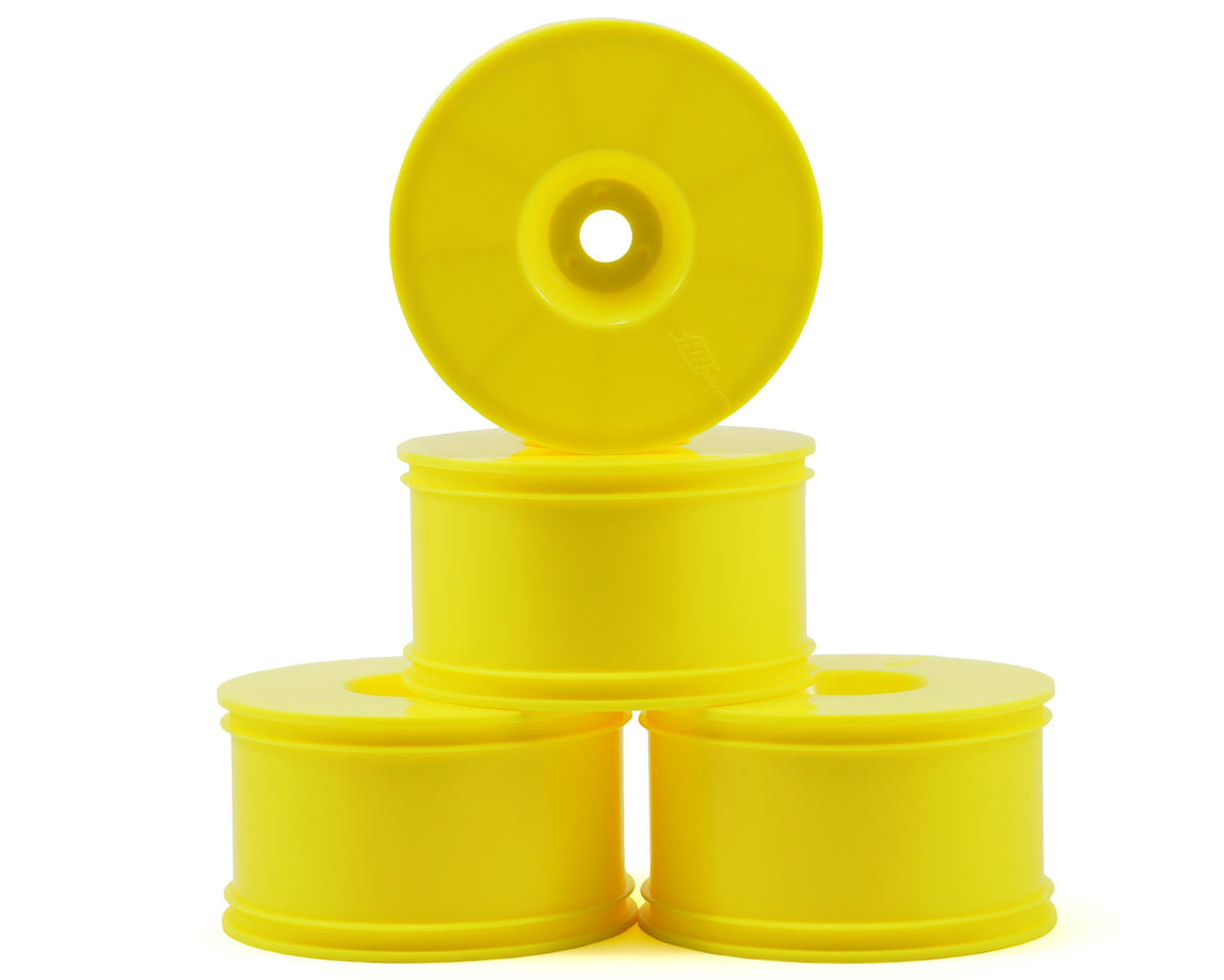 HB Racing T-Dish 1/8 Truggy Wheels (Yellow) (4)