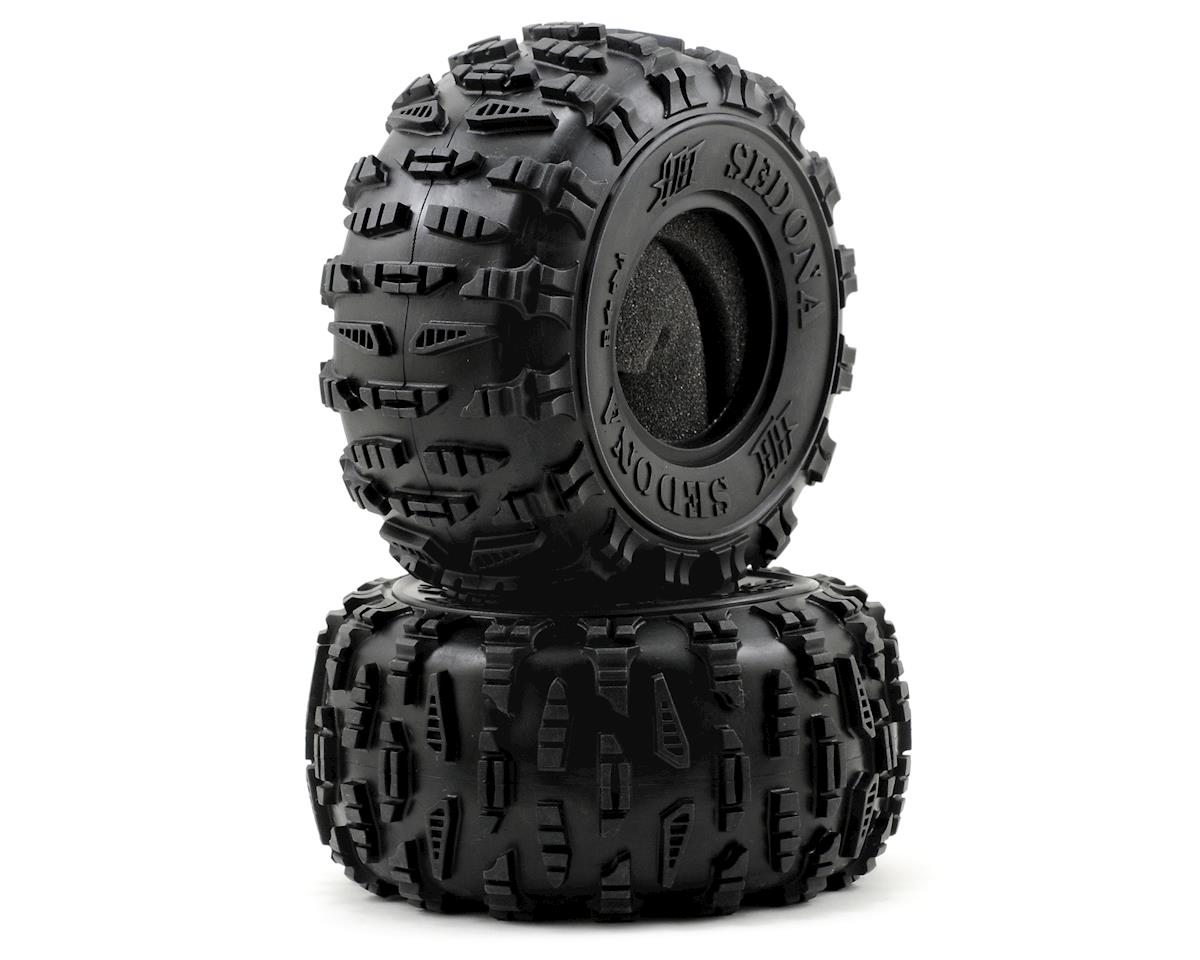 "HB Racing Sedona 2.2"" Rock Crawler Tires (2) (White)"