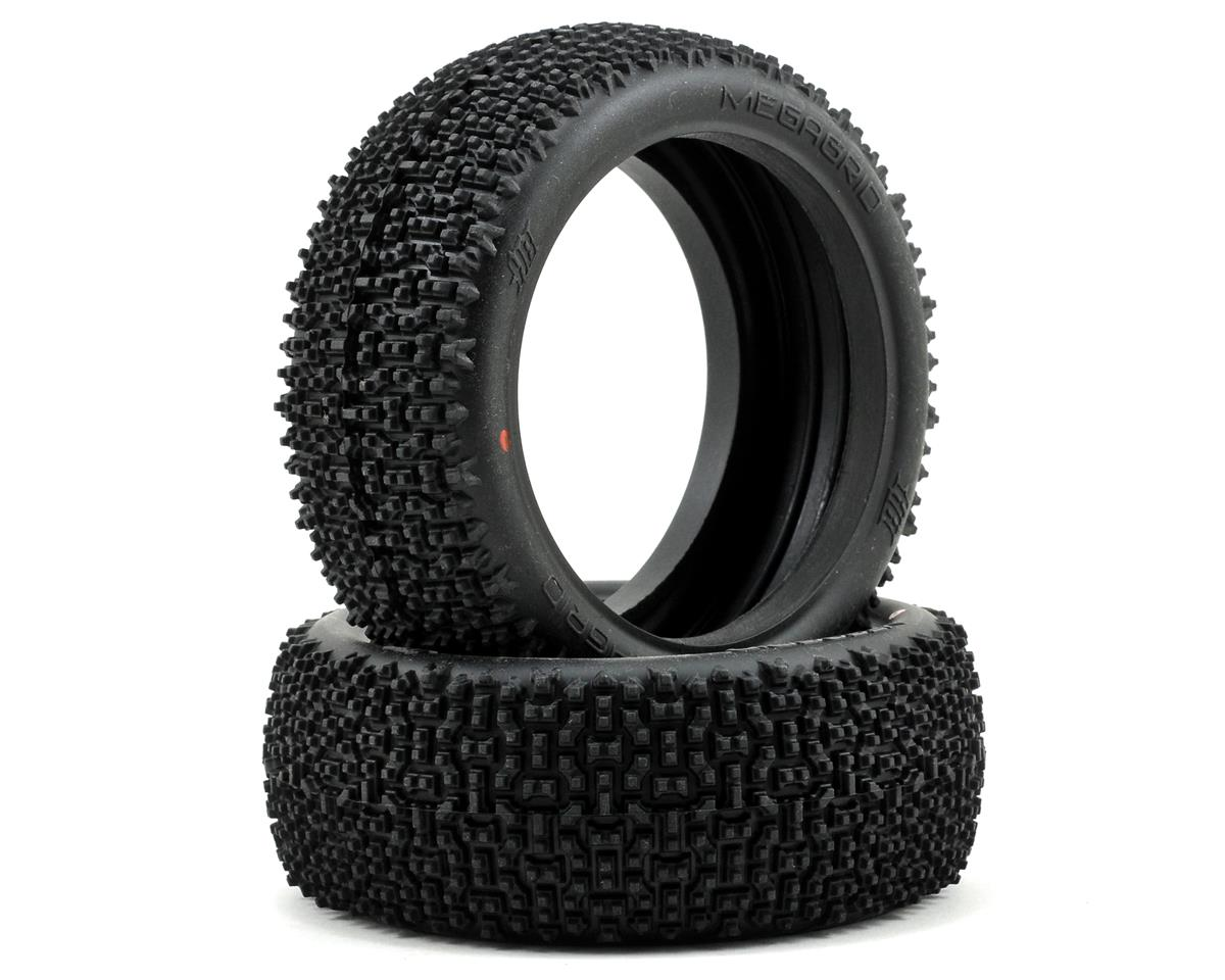 Megagrid 1/8 Buggy Tire (2) (Red) by HB Racing