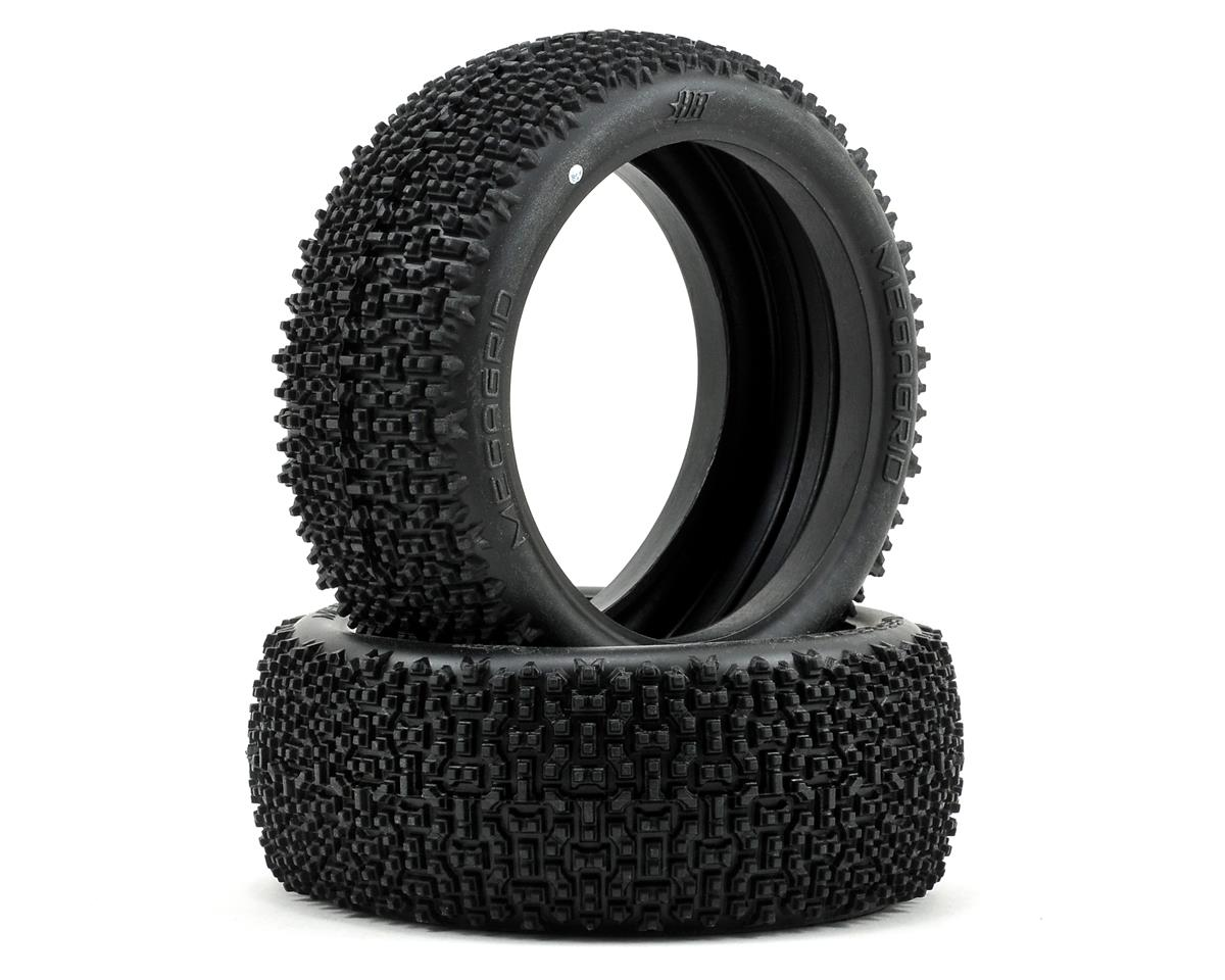 Megagrid 1/8 Buggy Tire (2) (White) by HB Racing