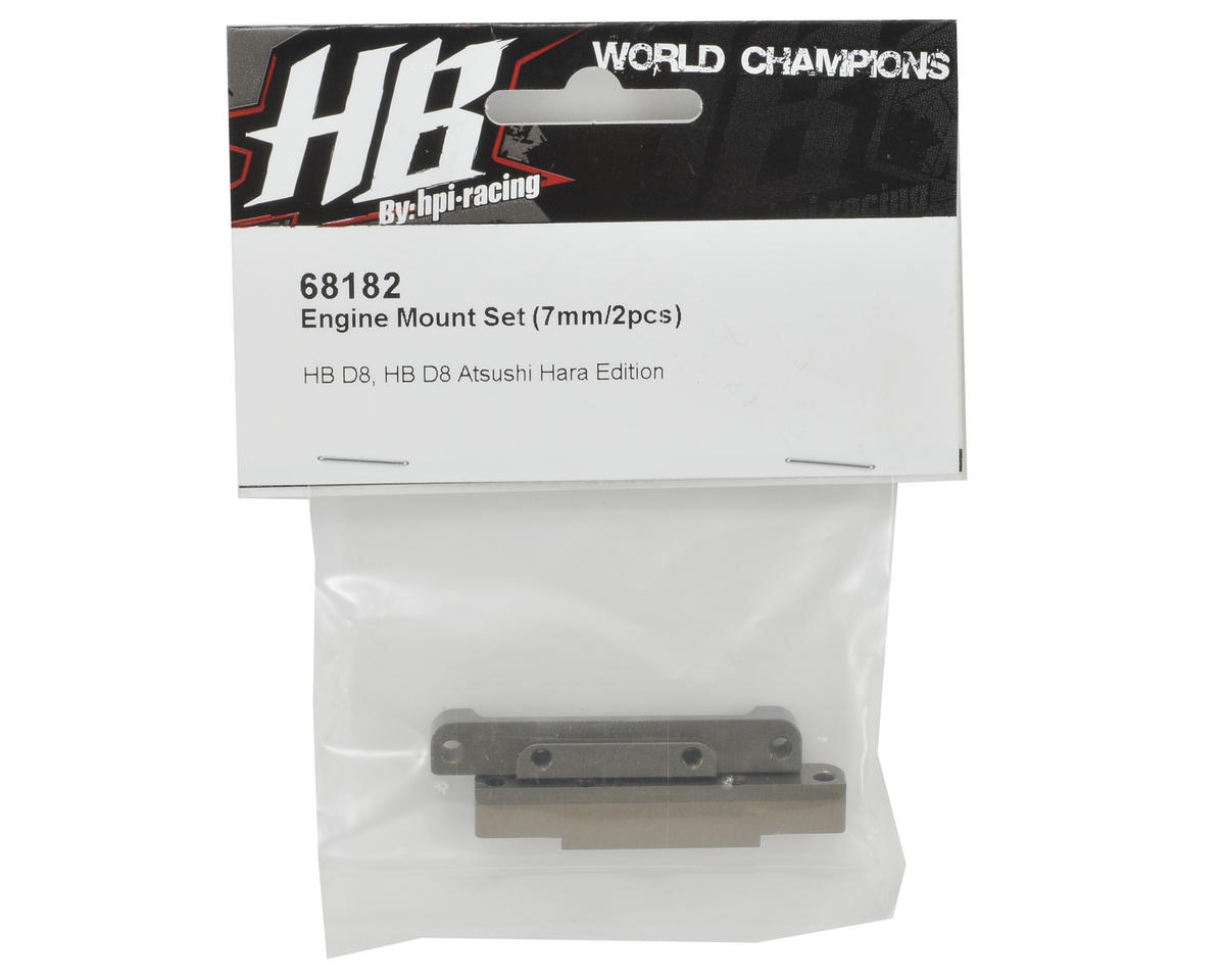 HB Racing 7mm Engine Mount Top Block Set (2)