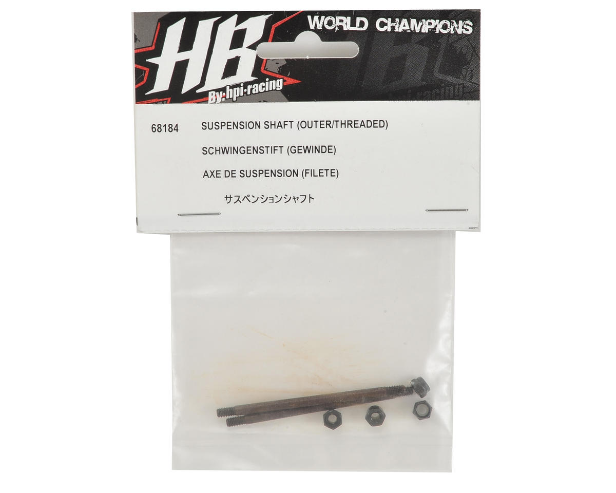 Outer Threaded Suspension Shaft (2) by HB Racing