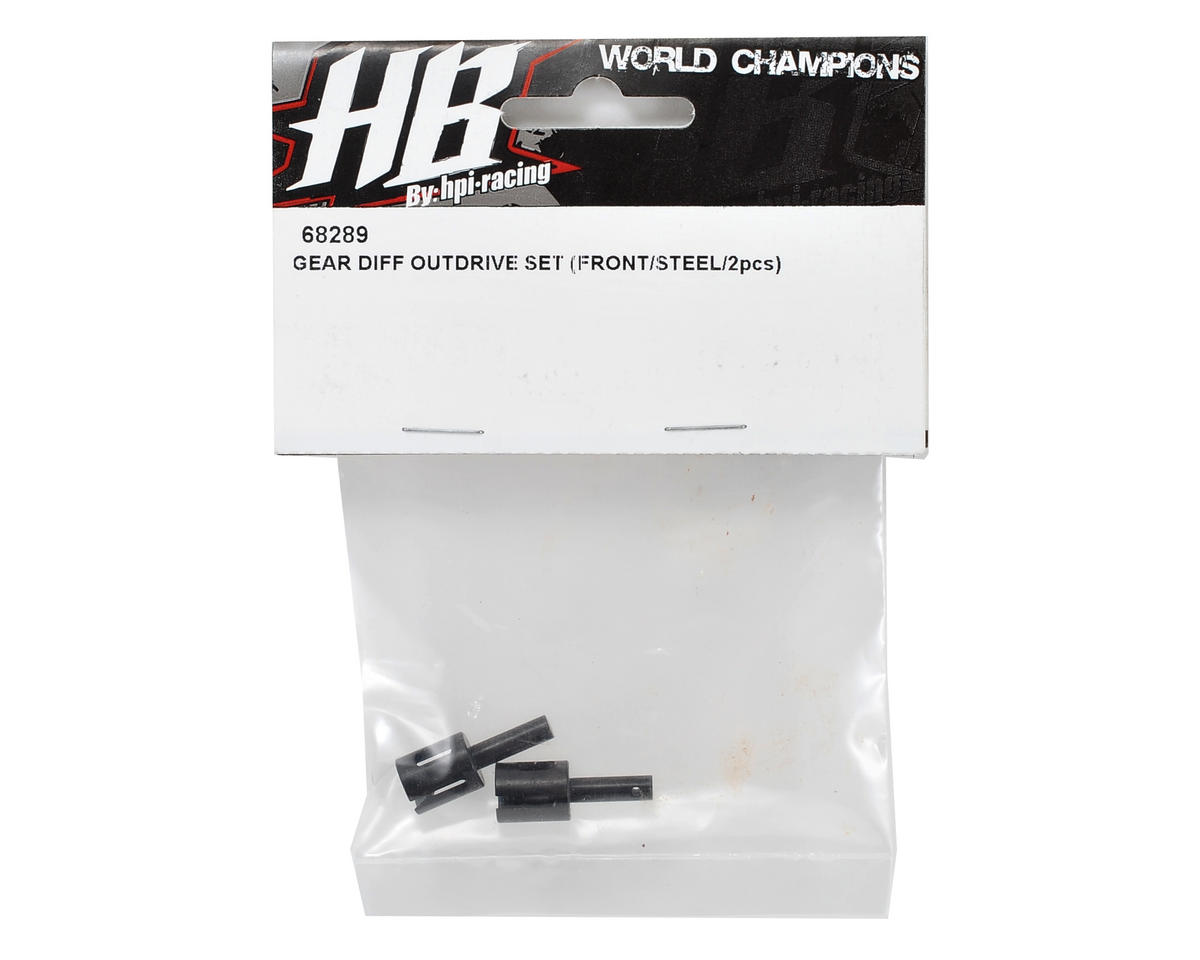 HB Racing Front Gear Diff Outdrive Set (Steel) (2)
