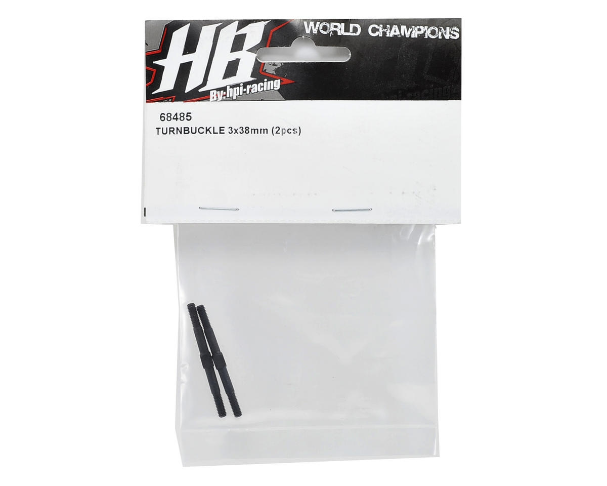 HB Racing 3x38mm Turnbuckle Set (2) (TCXX)
