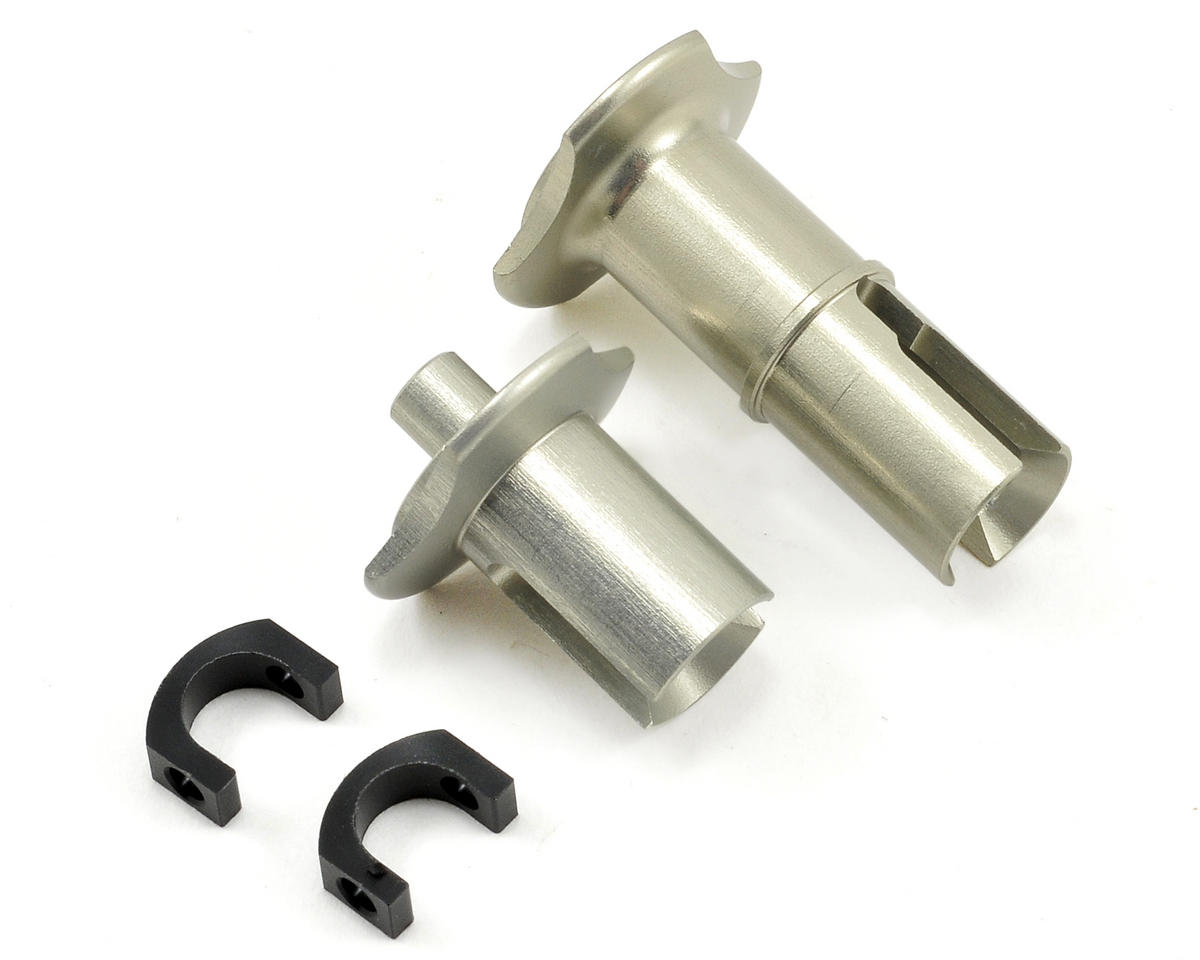 HB Racing Aluminum Differential Outdrive Set (2) (Hot Bodies TCX)