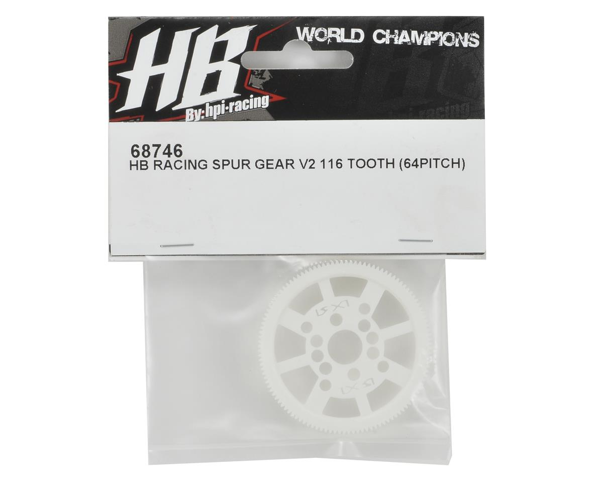 64P V2 Spur Gear (116T) by HB Racing