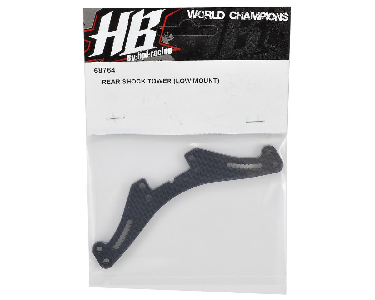 HB Racing Carbon Fiber Low Mount Rear Shock Tower