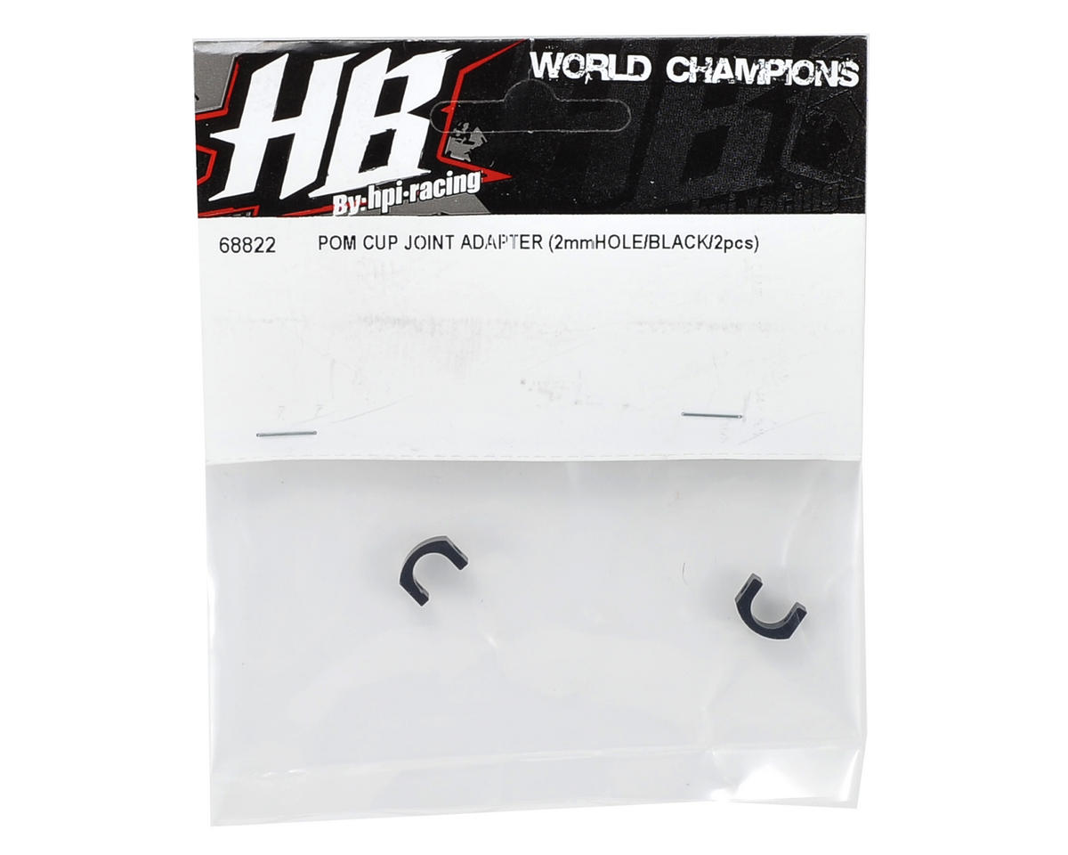 HB Racing POM Cup Joint Adapter (Black) (2) (2mm Hole)