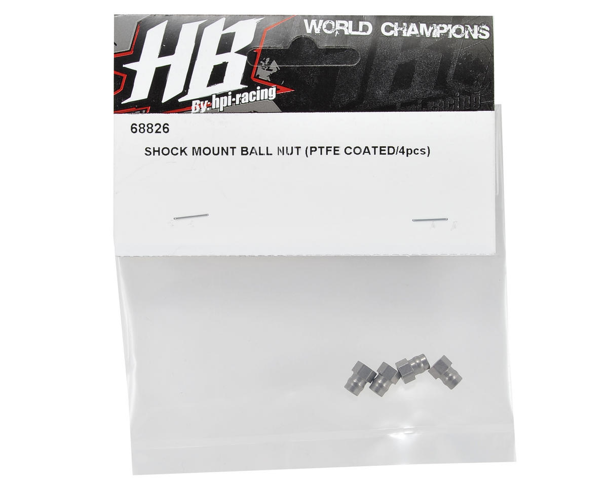 HB Racing PTFE Coated Shock Mount Ball Nut Set (4)