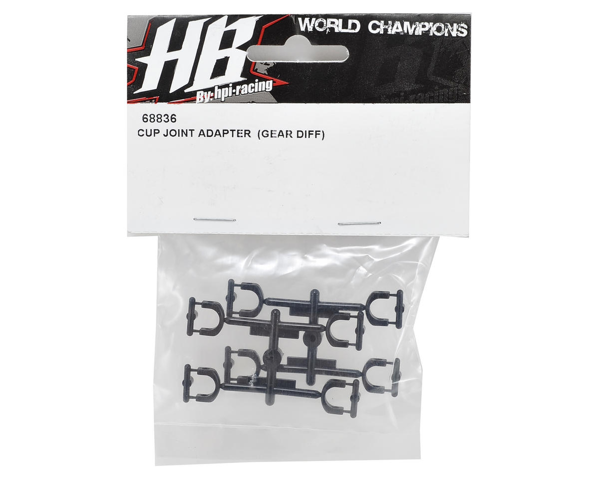 HB Racing Gear Differential Cup Joint Adapter Set