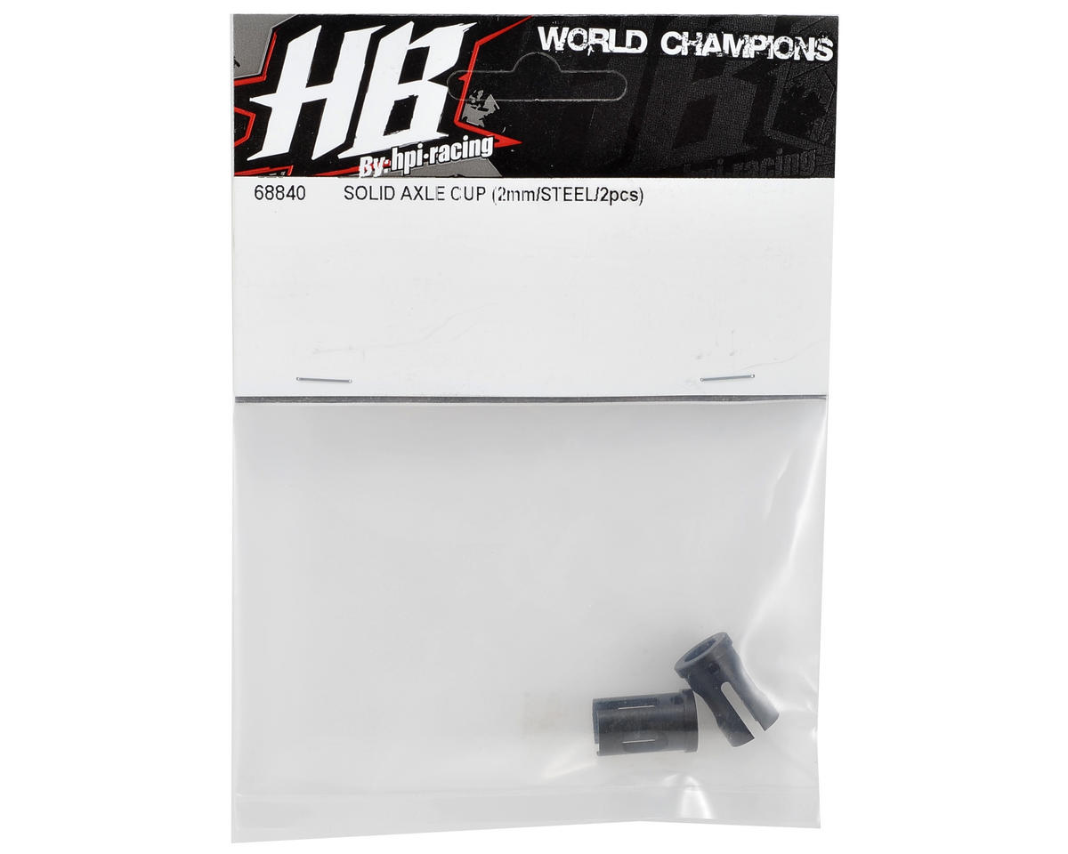 2mm Steel Solid Axle Cup Set (2) by HB Racing