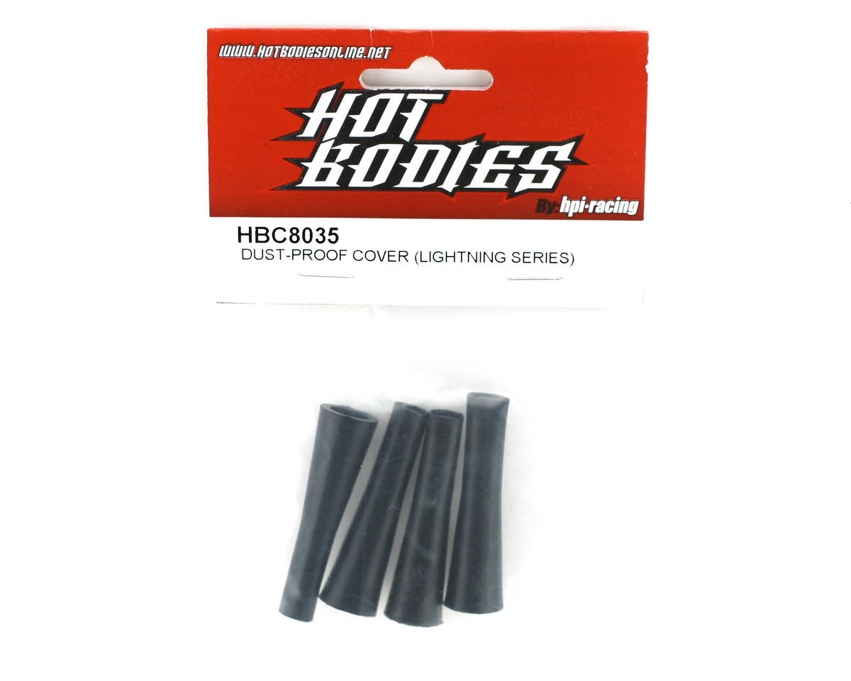 HB Racing Shock Dust Boots (4), (Lightning Series)