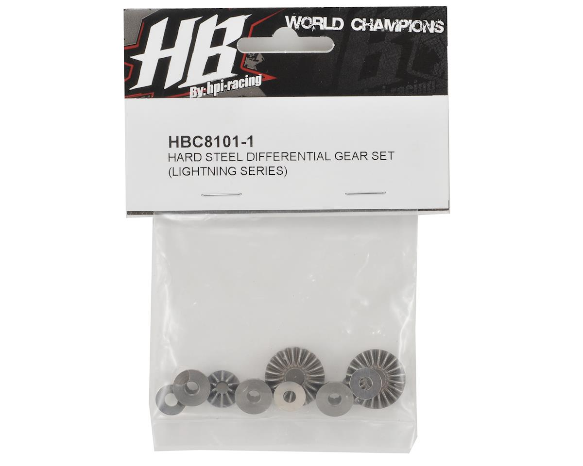 HB Racing Hardened Steel Differential Gear Set