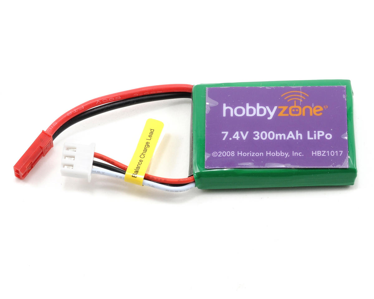 HobbyZone Li-Poly Battery Pack (7.4V/300mAh) (Mini Cub)
