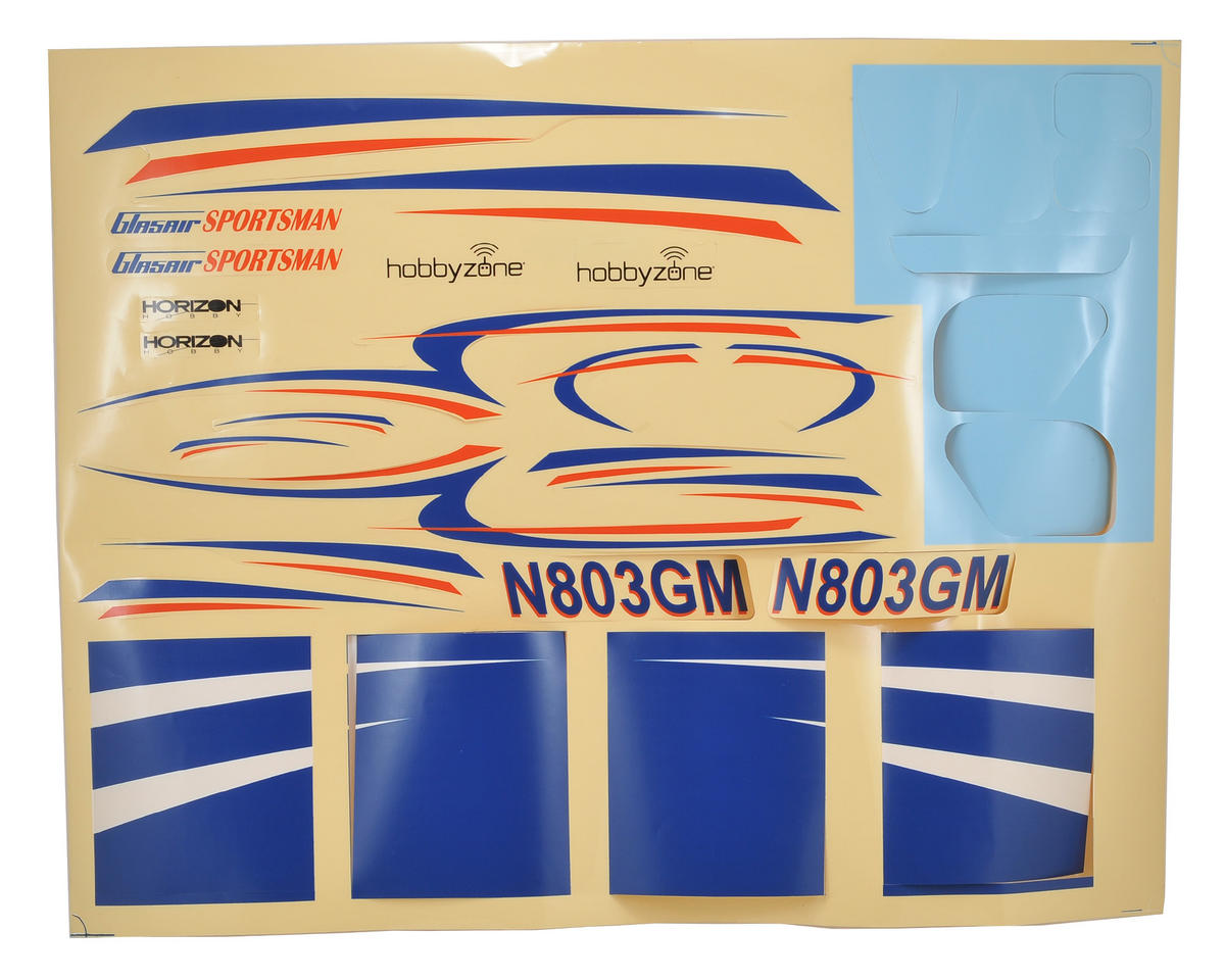 HobbyZone Glasair Decal Sheet