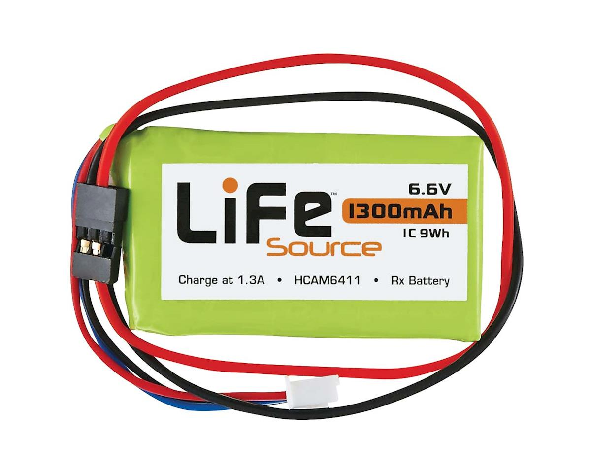 Hobbico LiFeSource LiFe 6.6V 1300mAh 1C Rx U Connector