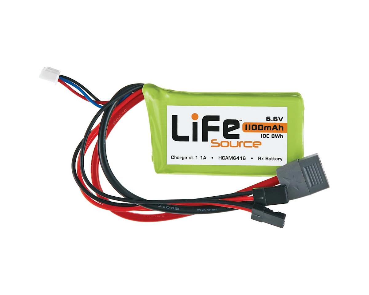 Hobbico LiFeSource LiFe 6.6V 1100mAh 10C Rx U Connector