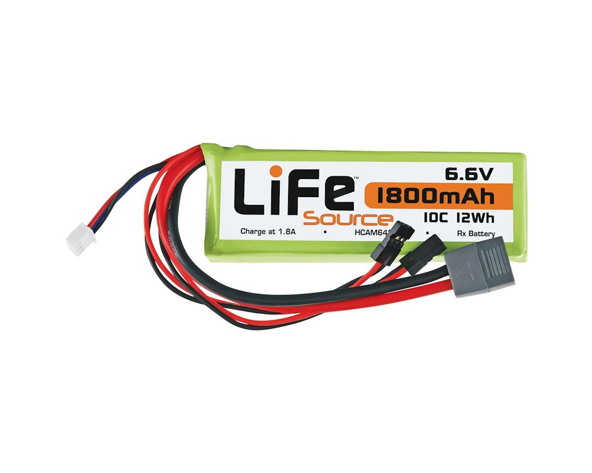 Hobbico LiFeSource LiFe 6.6V 1800mAh 10C Rx U Connector