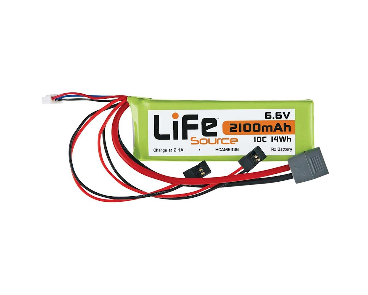 Hobbico LiFeSource LiFe 6.6V 2100mAh 10C Rx U Connector