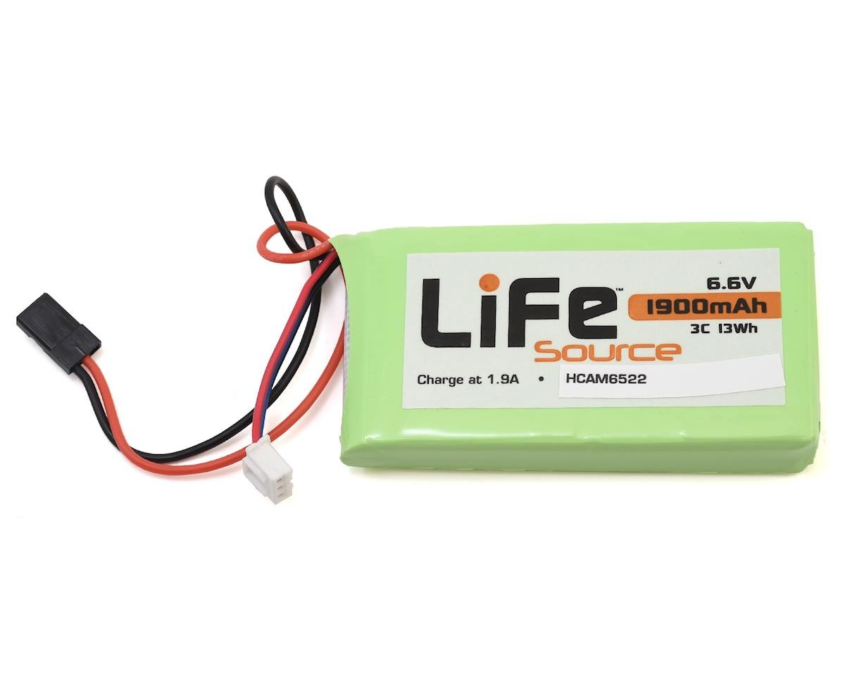 3C 6J/14SG Transmitter/Receiver LiFe Battery Pack (6.6V/1900mAh) by Hobbico