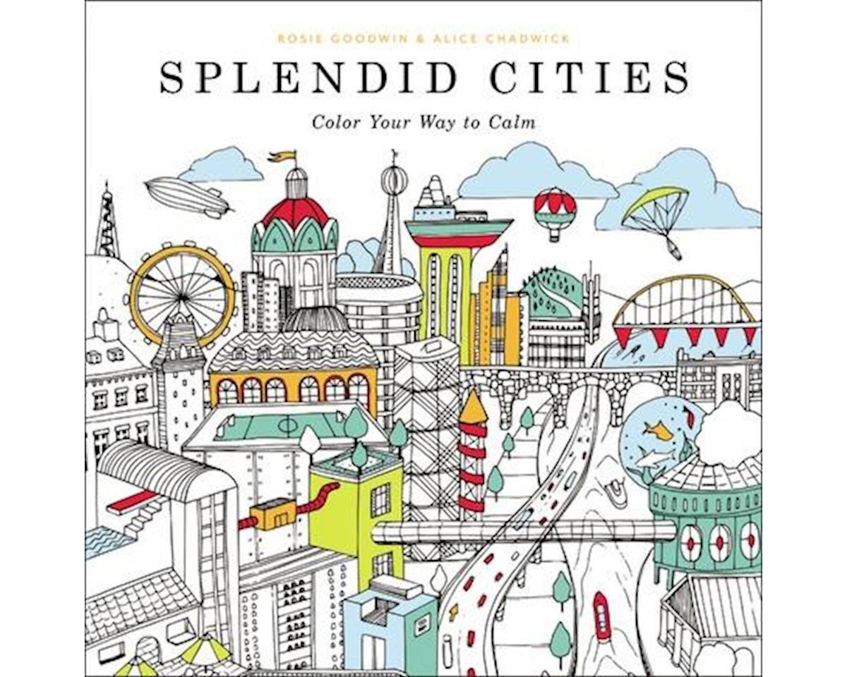 Adult Coloring Book Splendid Cities